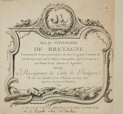 OGÉE, Jean. Atlas itinéraire de Bretagne....