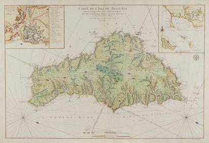 BELLIN, J.N. Carte De L'Isle De Belle-Isle....