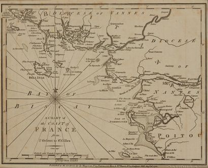 CARY, J. A chart of the coast of France from...