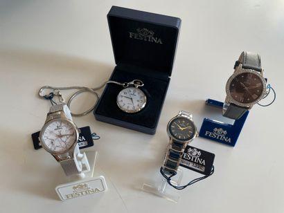 * FESTINA - Trois montres bracelet et une...