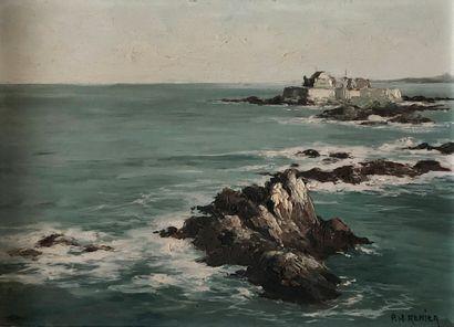 * Paul Henri RENIER (XXe siècle)  Paysage...
