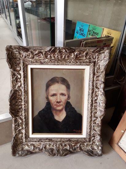 * André RAOUL  Portrait de femme  Huile sur...