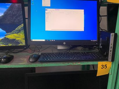 1 ORDINATEUR HP PRO DESK avec Ecran HP 2...