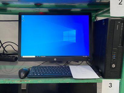 1 ORDINATEUR HP ELITEDESK avec écran 24