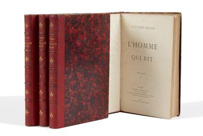 * HUGO (Victor). L'homme qui rit. Paris, Lacroix, Verboeckhoven, 1869, 4 vol. in-8,...