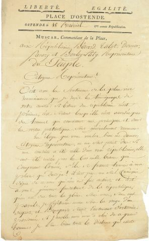 * Arnould MUSCAR (1757-1837) officier. L.A.S.,...