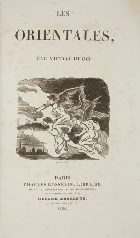 * HUGO (Victor). Les Orientales. Paris, Gosselin, 1829, in-8, 424 pp. demi-rel....