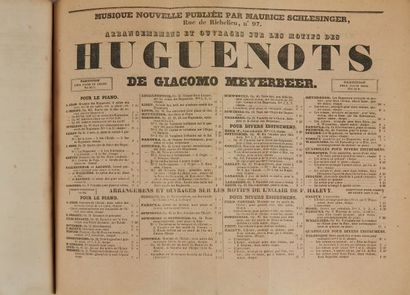 * HUGO (Victor). La Esmeralda. Libretto. Opera en quatre actes. Musique de mademoiselle...