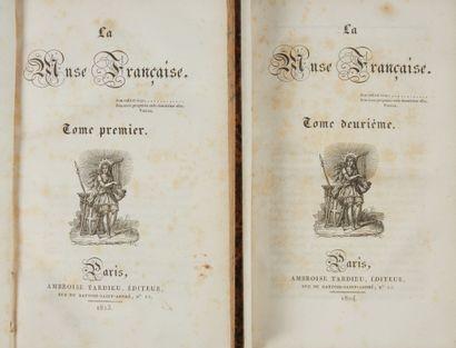* HUGO, Victor. La muse française. Paris, Tardieu, 1823-1824, 2 vol. in-8, 387...