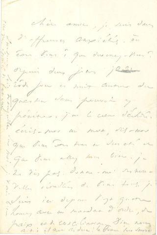 * Victor HUGO. L.A., [25 juin 1848, à SA FEMME] ; 1 page in-8 au crayon.     Lettre...