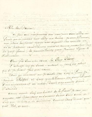 * Alexandre DUMAS père (1802-1870). L.A.S.,...