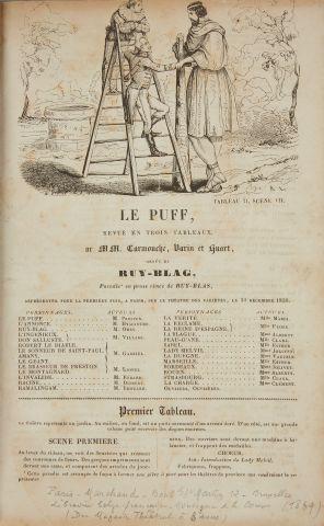 * HUGO (Victor) - LE PUFF. Revue en trois...