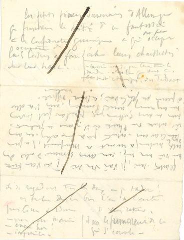* Victor HUGO. MANUSCRIT autographe (brouillons)...