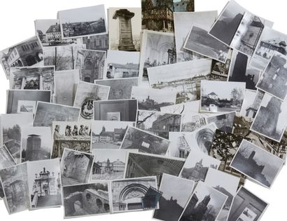 * Lot de photographies ; paysages et arc...