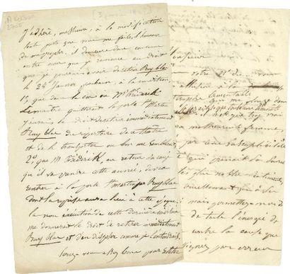 * Juliette DROUET (1806-1883). 3 copies autographes...