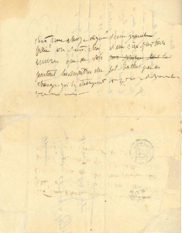 * Victor HUGO. L.A.S. « Victor », vendredi 26 [janvier 1827], à Alfred de VIGNY...