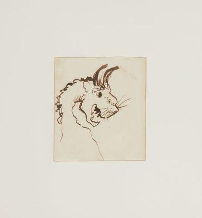 * Victor HUGO (1802-1885)  Tête de gargouille...