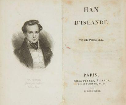 * HUGO (Victor). Han d'Islande. Paris, chez Persan, 1823, 4 tomes en 4 vol. in-12,...