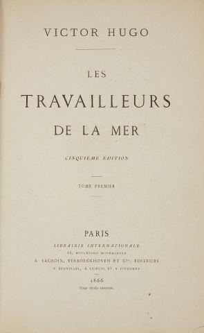 * HUGO (Victor). Les travailleurs de la mer. Cinquième édition. Paris, Lacroix,...