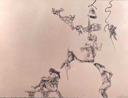 * David SCHORR (1947-2018)  Composition personnages...