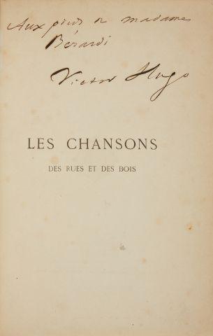 * HUGO (Victor). Les chansons des rues et des bois. Paris, Lacroix, Verboeckhoven,...