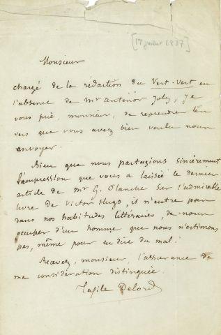 * Taxile DELORD (1815-1877) publiciste. L.A.S.,...