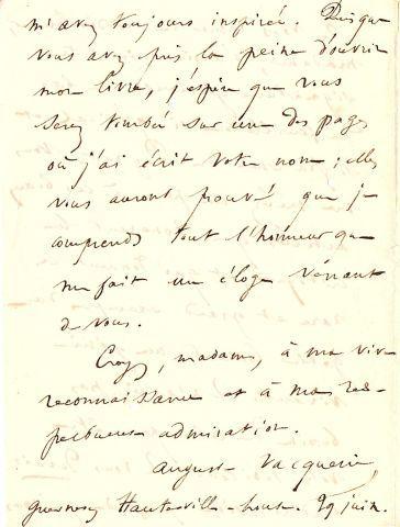 * Auguste VACQUERIE (1819-1895) poète et auteur dramatique, compagnon fidèle de...