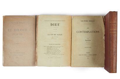 * HUGO (Victor). Les contemplations. Deuxième édition. Paris, Michel Lévy, Hetzel,...