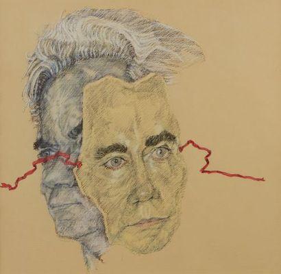 * David SCHORR (1947-2018)  Portrait de Jean...