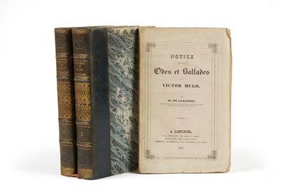 * HUGO (Victor). Odes et ballades. Paris, Gosselin, Bossange, 1829, 2 vol. in-8,...