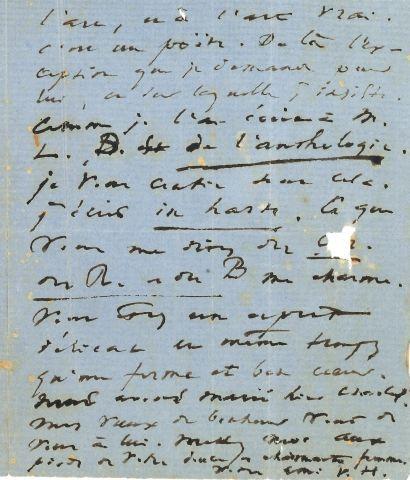 * Victor HUGO. L.A.S. « V.H. », 19 octobre [1865], à un ami ; 2 pages in-12 sur...