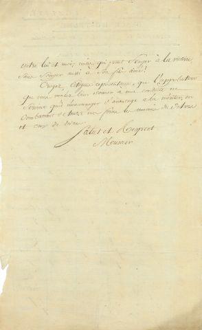 * Arnould MUSCAR (1757-1837) officier. L.A.S., Ostende 18 prairial VI (6 juin 1798),...