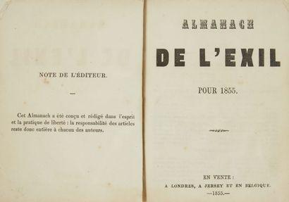 * HUGO, Victor. Almanach de l'exil pour...