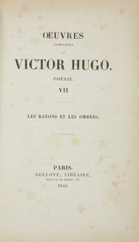 * HUGO (Victor). Œuvres complètes. Poésies....