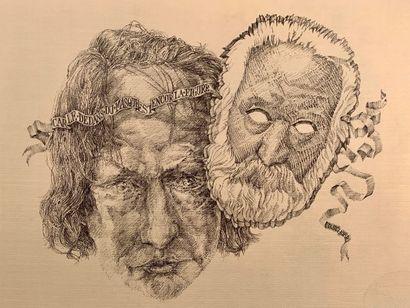 * David SCHORR (1947-2018)  Portrait de Victor...