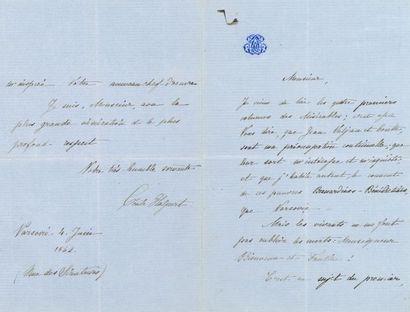 "Victor HUGO. L.A.S. ""Victor Hugo"" (corrected minute), Hauteville house June 9, 1862,..."