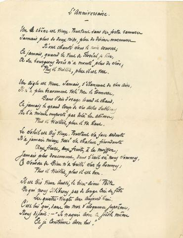 * François COPPÉE (1842-1908). POÈME autographe...