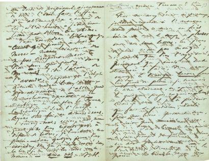 * Victor HUGO. L.A.S. « V. H. », Marine Terrace [Jersey] 8 octobre [1853], à Édouard...