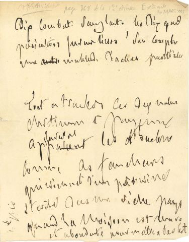 * François-René de CHATEAUBRIAND (1768-1848). MANUSCRIT autographe ; 1 page petit...
