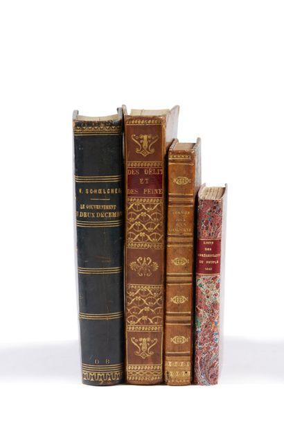 * HUGO (Victor). Le dernier jour d'un condamné. Paris, Gosselin, 1829, in-12, 259...