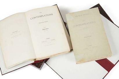 * HUGO (Victor). Les contemplations. Paris, Pagnerre, Lévy, 1856, 2 ff. - iii pp....