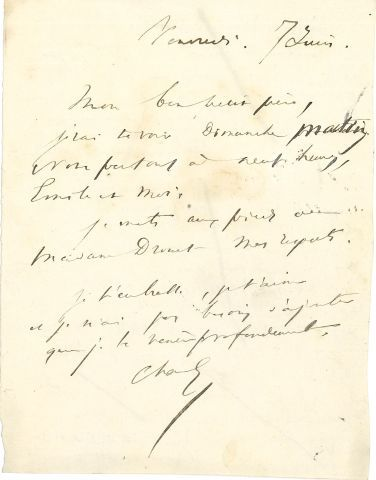 * Victor HUGO. MANUSCRIT autographe (brouillons) pour Les Misérables, au dos d'une...