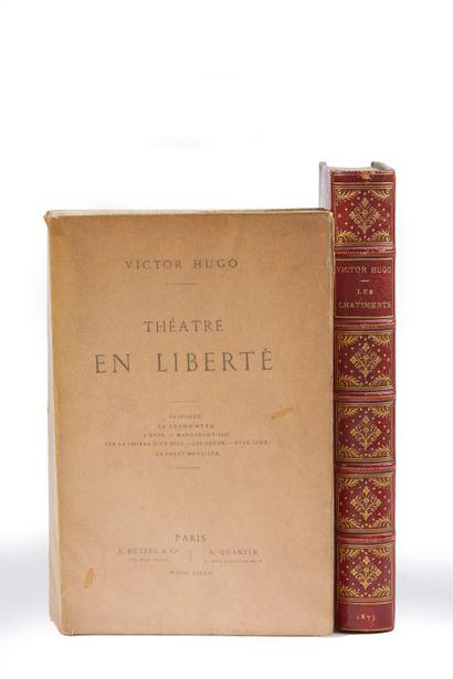* HUGO (Victor). Les châtiments. Paris, Lévy, 1875, gd. In-8, xi- 455 pp. demi-rel....