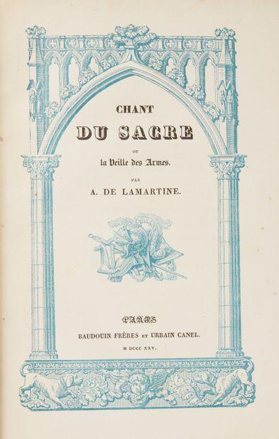 * LAMARTINE (Alphonse de) Chant du sacre...