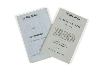 * HUGO (Victor). Discours de l'exil. 1851-1854....