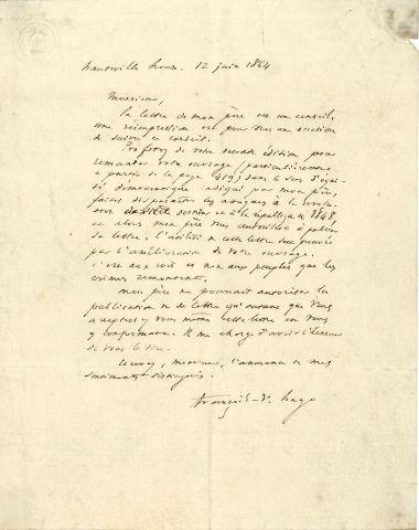 * François-Victor HUGO (1828-1873) fils cadet...