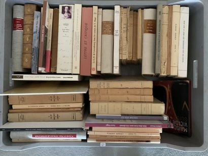 * 2 mannettes. Victor Hugo, catalogues, bibliographies...