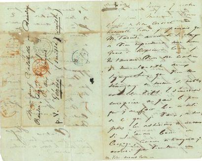 * Victor HUGO. L.A.S. « Victor Hugo », Jersey 7 octobre [1852], à Messieurs Salabelle...