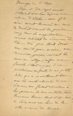 * [Victor HUGO]. Manuscrit (copie ancienne),...