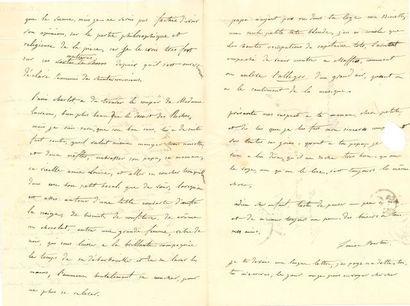 * Louise BERTIN (1805-1877) compositrice. 2 L.A.S., 1833-1834, à Léopoldine HUGO,...